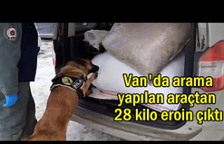 Van'da 28 kilo eroin yakalandı