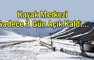 Van'da kayak sezonu açılmadan kapandı