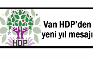 Van HDP'den yeni yıl mesajı