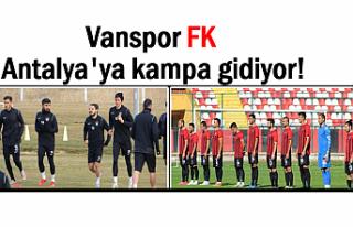 Vanspor FK Antalya'ya kampa gidiyor!