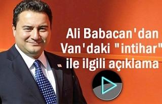 DEVA Lideri Babacan'ın Gündemi Van'daki...