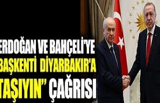 Erdoğan ve Bahçeli'ye başkent Diyarbakır olsun...