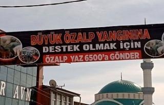 Özalp'ta İş Yerleri Yanan Esnafa Yardım Kampanyası