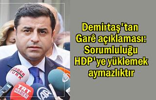 Selahattin Demirtaş: Sorumluluğu HDP'ye yüklemek...