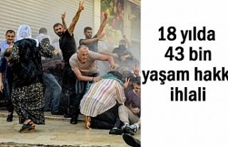 Türkiye'de son 18 yılda 43 bin yaşam hakkı...