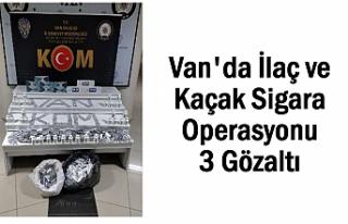 Van'da kaçakçılık operasyonu: 3 Kişi Yakalandı