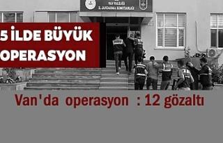 Van'da operasyon: 12 gözaltı