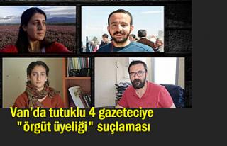 """Van'da 4 gazeteci """"örgüt üyeliği""""..."""
