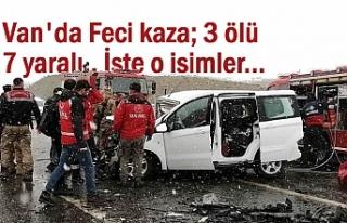 Van'da Feci Kaza: 3 Ölü