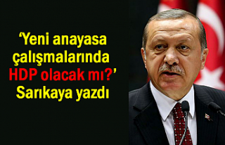 'Yeni anayasa çalışmalarında HDP olacak mı?'