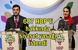 687 HDP'li hakkında siyaset yasağı gündemde