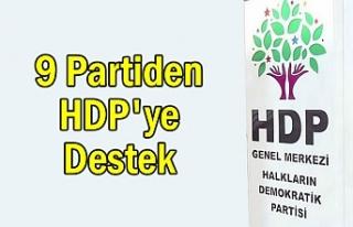 9 partiden HDP'ye destek