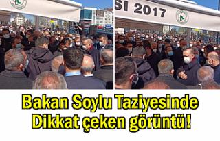 Bakan Soylu Taziyesinde Dikkat Çeken Görüntü!
