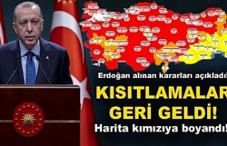 Erdoğan yeni Koronavirüs kısıtlamalarını açıkladı