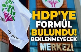 HDP'yi kapatma formülü bulundu!