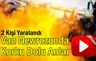 Van'da Newroz Alanında Korku Dolu Anlar Kameraya...