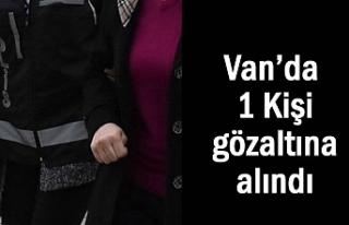 Van'da bir kadın gözaltına alındı