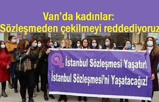 Van'da kadınlar: İstanbul Sözleşmesini Yaşatacağız