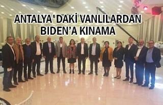 Biden Açıklamasına bir tepki de Antalya'daki...