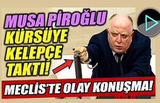HDP'li Musa Piroğlu Meclis Kürsüsüne Kelepçe...