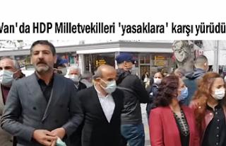 HDP Van Milletvekilleri 'yasaklara' karşı...