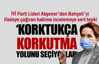 İYİ Parti Lideri'nden Bahçeli'yi sert...