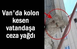 Van'da kolon kesen vatandaşa 100 bin TL ceza