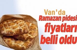 Van'da Ramazan Pidesi fiyatları netleşti