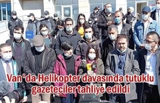Van'da tutuklu gazeteciler tahliye edildi