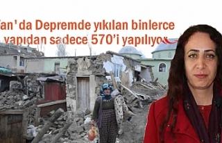 Van'da yıkılan binlerce yapıdan sadece 570'i...