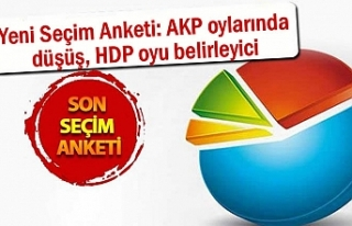 Yeni Seçim Anketi: AKP oylarında düşüş , HDP...