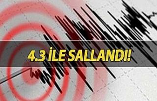 4,3 büyüklüğünde deprem meydana geldi