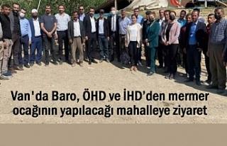 Baro ve İHD mermer ocağının yapılacağı mahalleye...