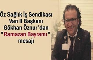 """Başkan Gökhan Öznur'dan """"Ramazan Bayramı""""..."""
