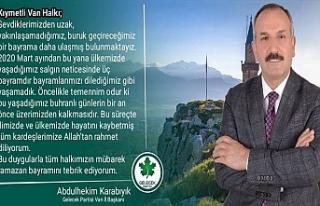 Gelecek Partisi Van İl Başkanı Karabıyık'tan...