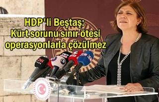 HDP'li Beştaş: Kürt sorunu sınır ötesi...