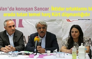 HDP'li Sancar Van'da Konuştu: Ortak Payda...