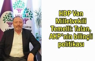 HDP Van Milletvekili Temelli: Talan, bilinçli politika