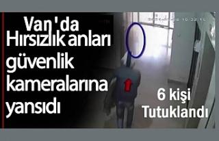Van'da hırsızlık suçundan 6 kişi tutuklandı