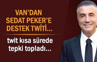 Van'dan Sedat Peker'e Destek Paylaşımı