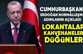 Erdoğan, normalleşme adımlarını duyurdu