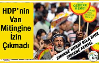 HDP'nin 'Anadil' Mitingine İzin Çıkmadı