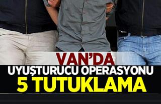 Van'da torbacı operasyonu: 5 kişi tutuklandı