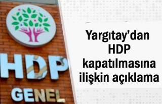 Yargıtay'dan Flaş HDP Açıklaması