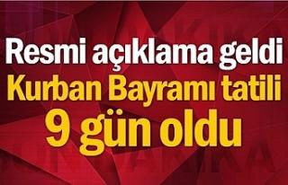 Cumhurbaşkanı Erdoğan Açıkladı: Bayram tatili...