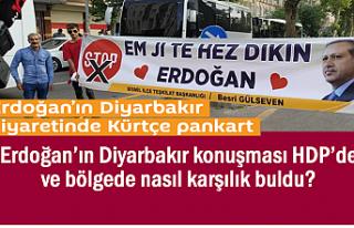 Erdoğan'ın Diyarbakır sözleri HDP'de ve bölgede...