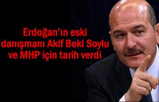 Gazeteci Akif Beki Soylu ve MHP için tarih verdi