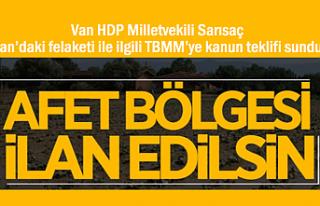 HDP'li Sarısaç'tan Kanun Teklifi: Başkale Afet...