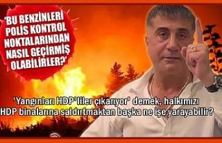 Sedat Peker: Yangınları HDP'liler çıkarıyor...