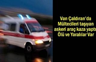 Van'da Mültecileri taşıyan askeri araç kaza...